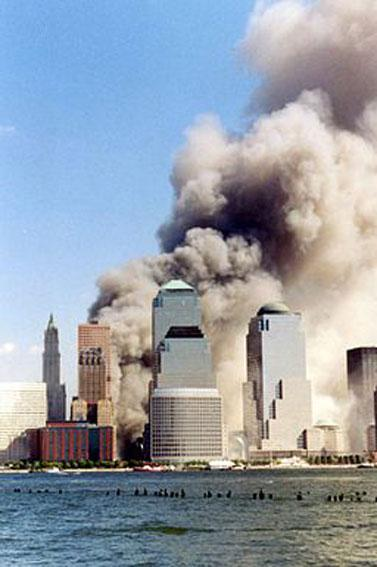 World Trade Center, 11. September 2001. Foto: Wally Gobetz
