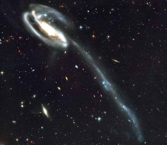 Spiralgalaxie, Hubble Telescope: Foto NASA/ESA